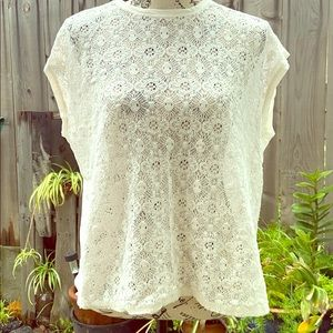Old Navy Lace Front Sleeveless Top